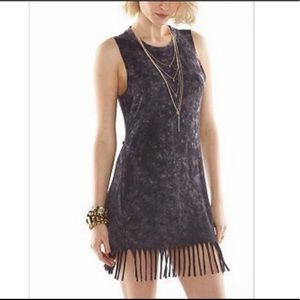 Rock & Republic Distressed Fringe and Cutout Dress
